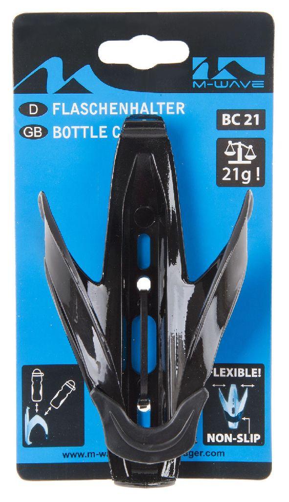 M-WAVE Flaschenhalter Kunststoff schwarz - Bikedreams & Dustbikes