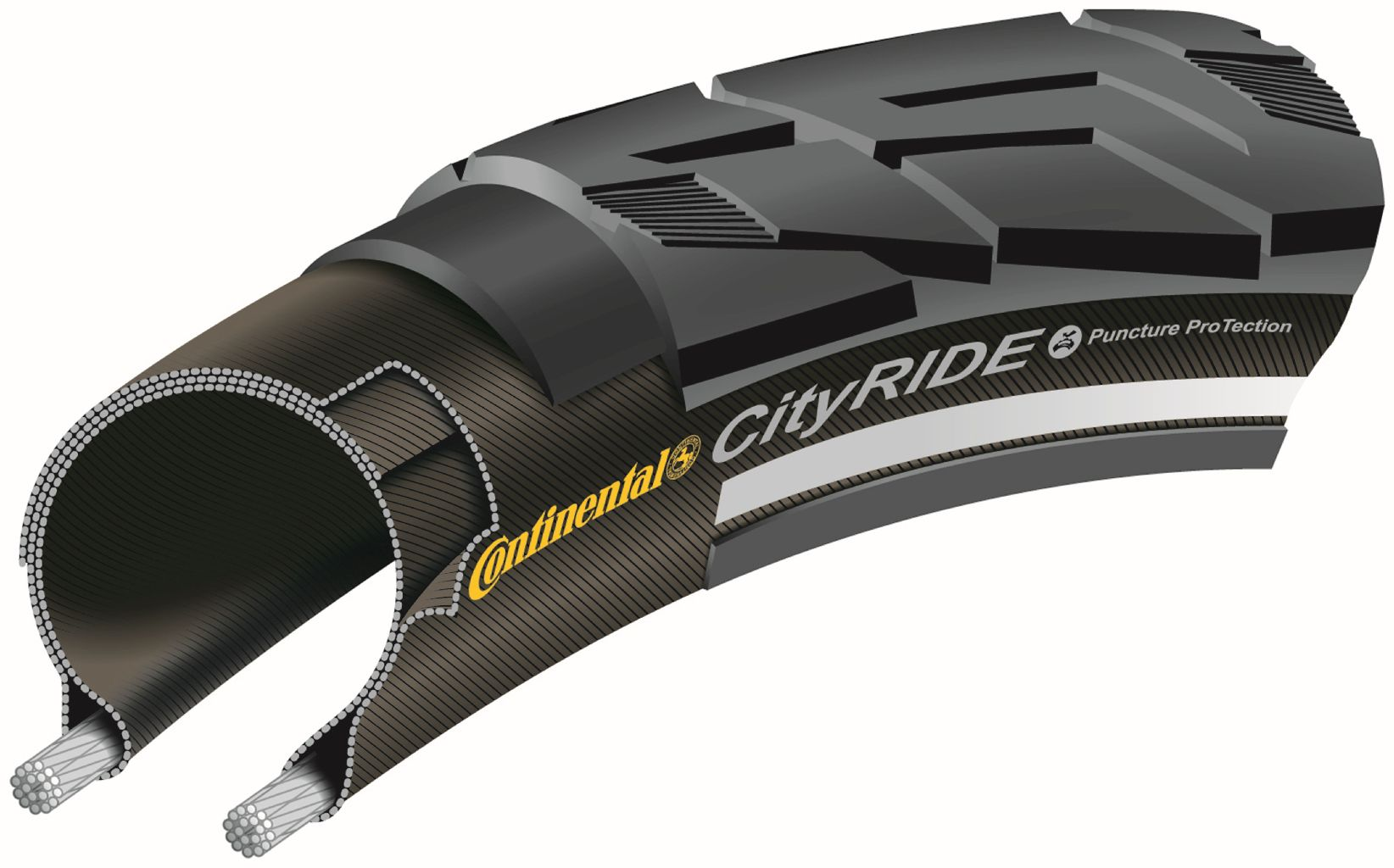 Conti CITYRIDE II 47-622 schwarz - Bikedreams & Dustbikes