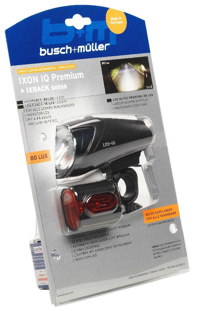 B&M Lichtset vo. + hi. IXON IQ Premium + IXBACK senso - Bikedreams & Dustbikes