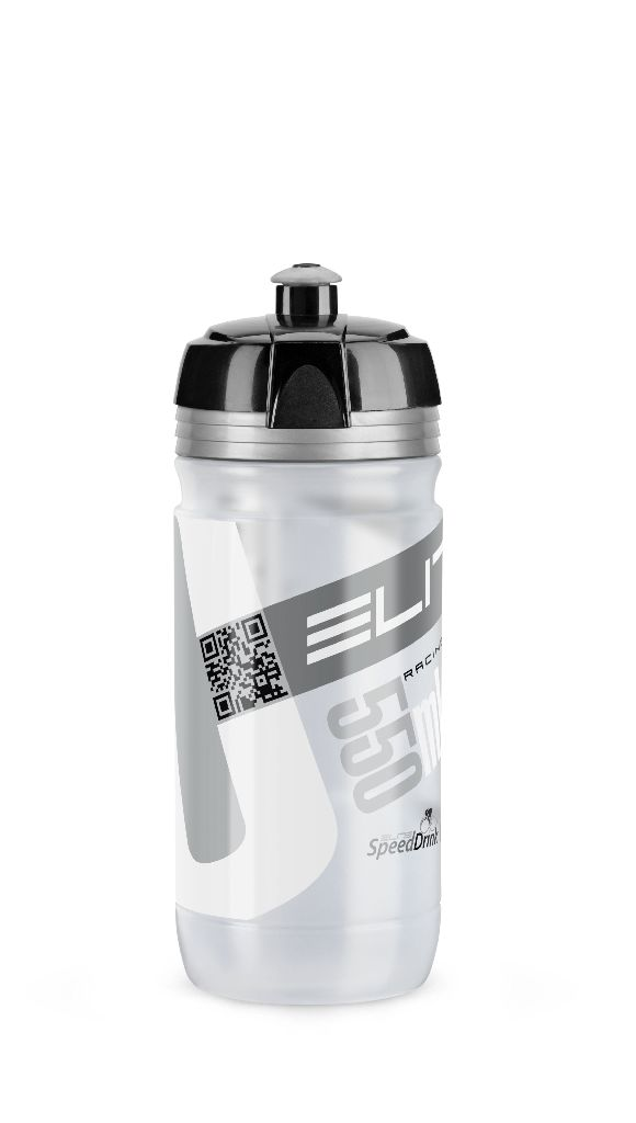 ELITE Flasche CORSA CLEAR 550ml mit Silbernem Logo - Bikedreams & Dustbikes