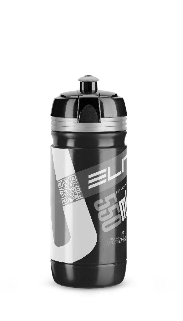 ELITE Flasche CORSA BLACK 550ml mit Silbernem Logo - Bikedreams & Dustbikes