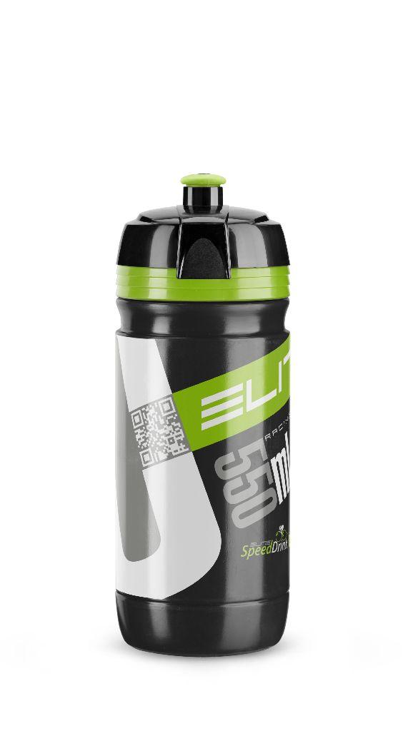 ELITE Flasche CORSA BLACK 550ml mit Grünem logo - Bikedreams & Dustbikes