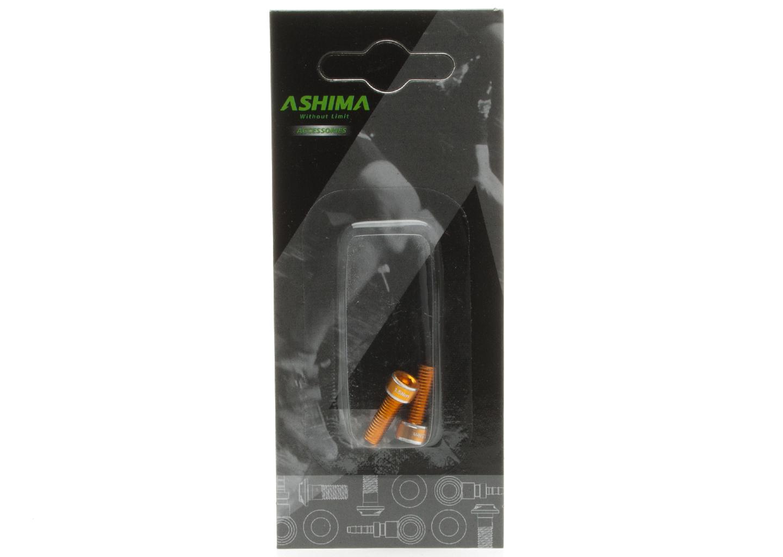 Ashima Befestigungsschrauben für Flaschenhalter Alu gold 2 Stk. - Bikedreams & Dustbikes