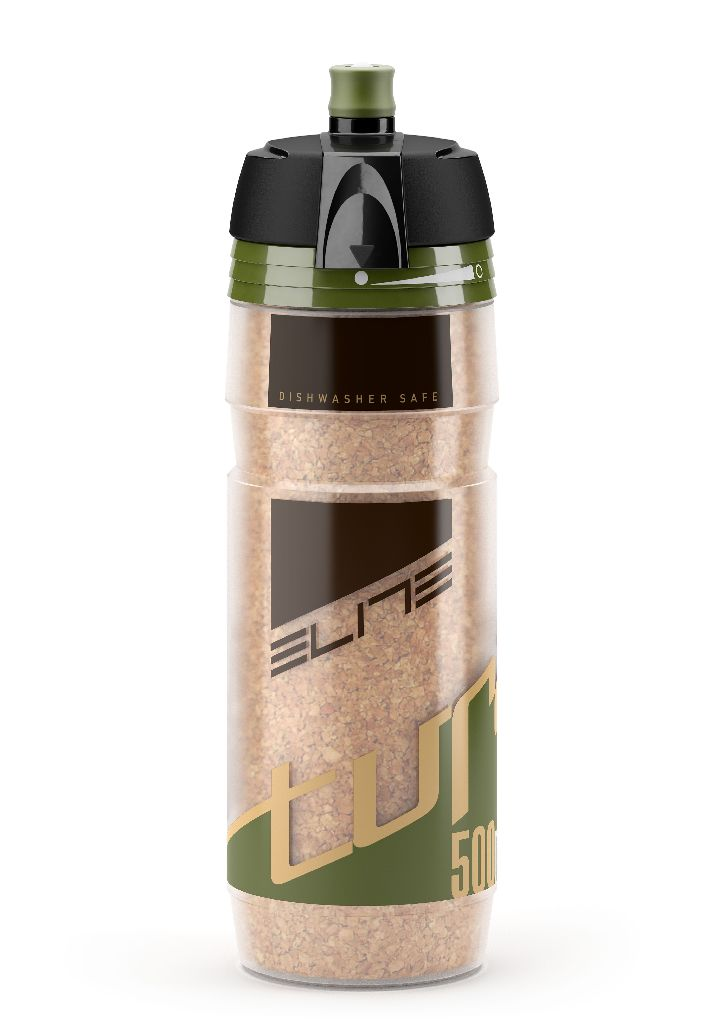 ELITE Thermoflasche TURACIO 500 ml Logo grün - Bikedreams & Dustbikes