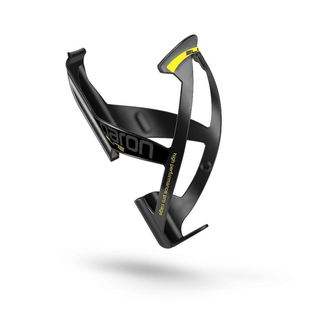 ELITE Flaschenhalter PARON SKIN 2015 soft touch schwarz mit neongelber Grafik - Bikedreams & Dustbikes