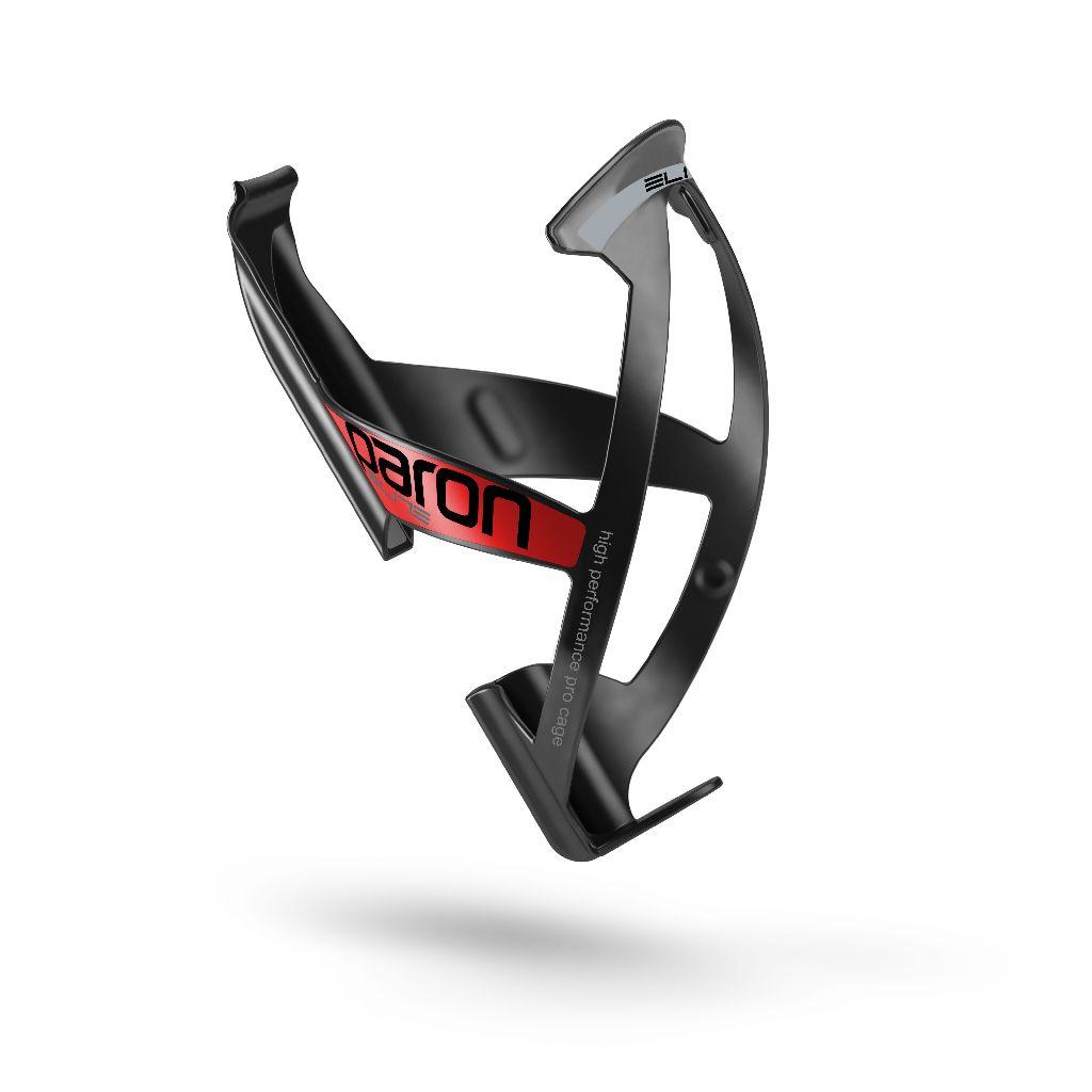 ELITE Flaschenhalter PARON 2015 schwarz glanz mit roter Grafik - Bikedreams & Dustbikes