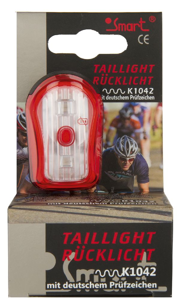 SMART LED-Licht rot Superflash schwarz - Bikedreams & Dustbikes