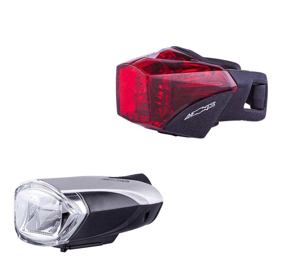 Azonic LED-Licht Set weiss + rot BONGO + BANJO USB/Battery STVZO LED front+rear - Bikedreams & Dustbikes