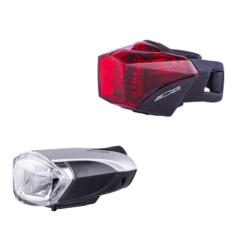 Azonic LED-Licht Set weiss + rot BONGO + BANJO Battery STVZO LED - Bikedreams & Dustbikes