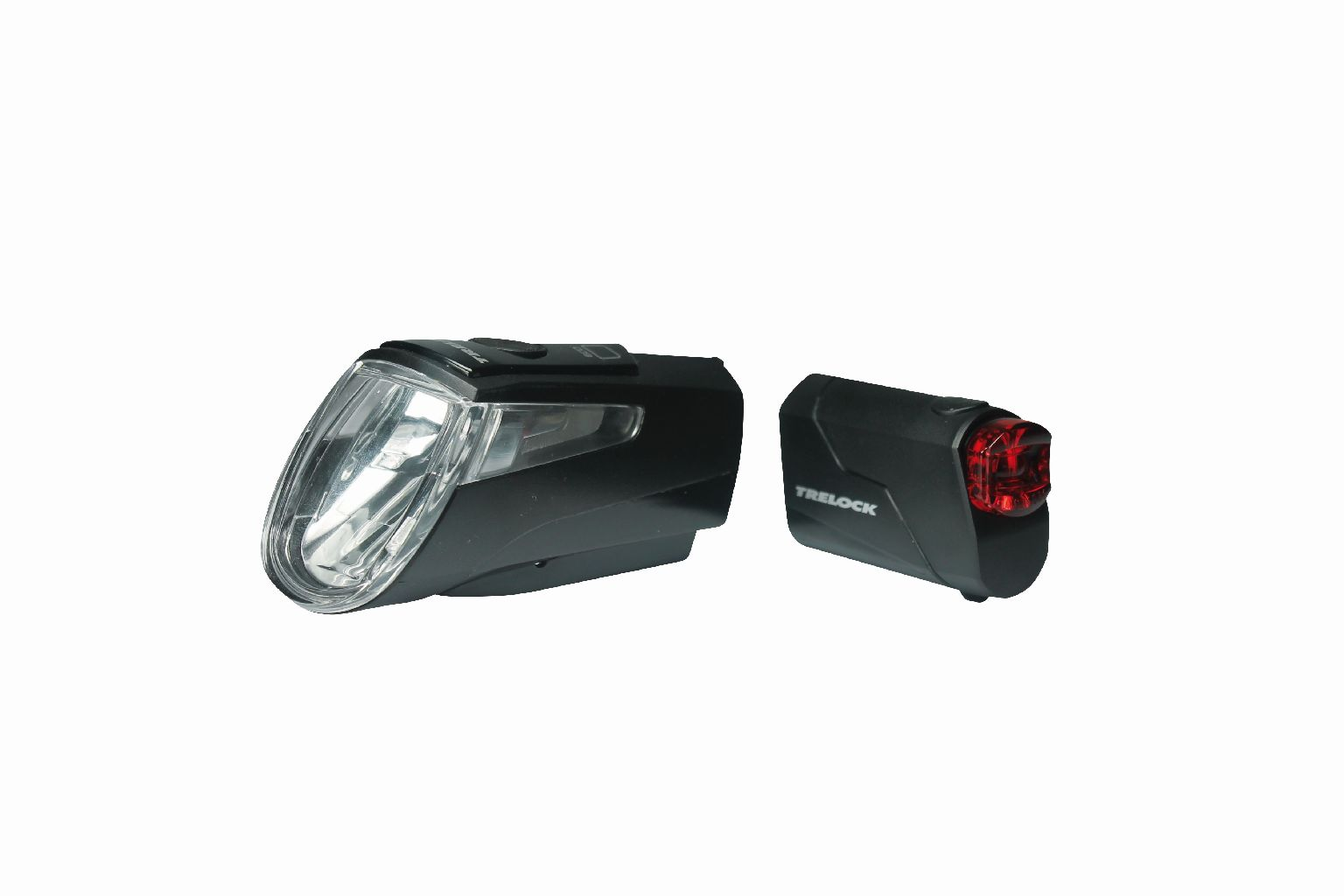 Trelock Lichtset vo. + hi. LS 460 I-GO® POWER / LS 720 Kombi-Set schwarz - Bikedreams & Dustbikes
