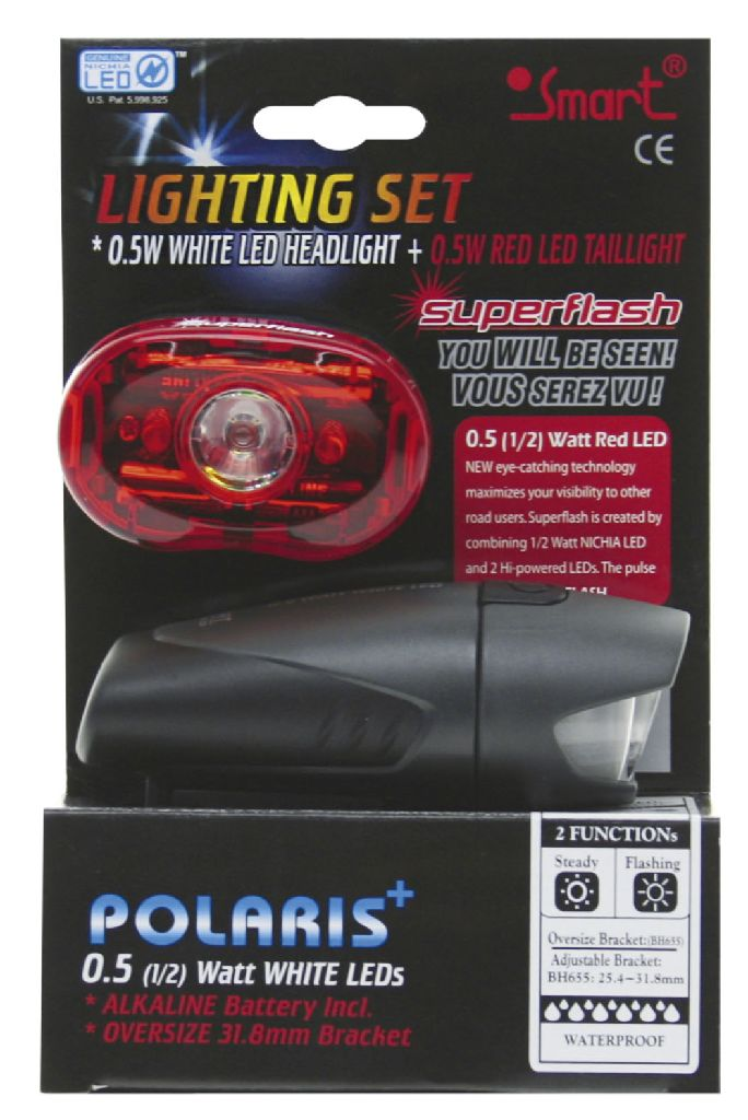 SMART LED-Lichtset weiss + rot Polaris + Superflash - Bikedreams & Dustbikes